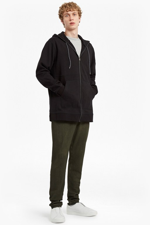ashcroft longline hooded sweatshirt