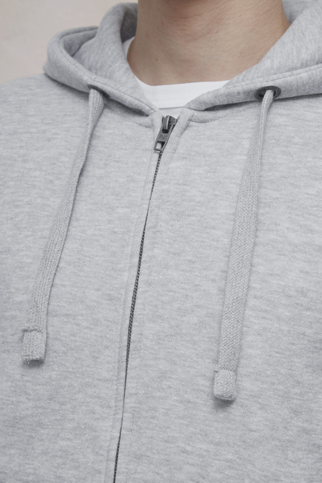 French Connection Men/'s Zip Through Hoodie Lt Grey Size M