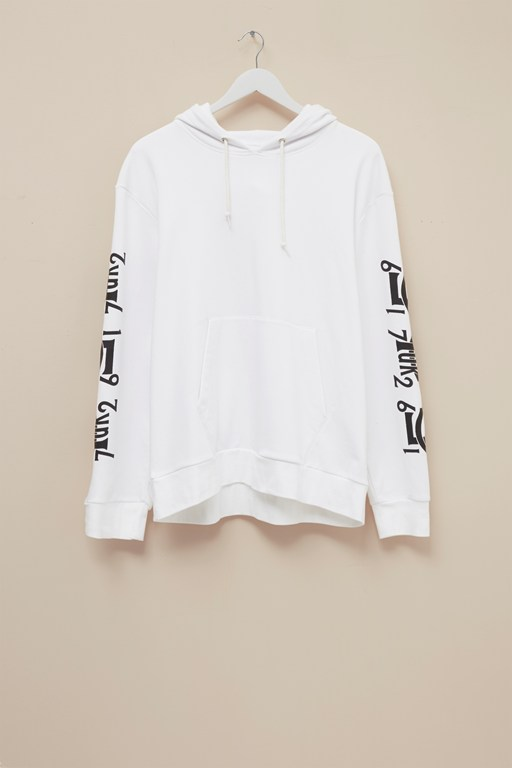 Complete the Look Baseball Sleeve Print Hoodie