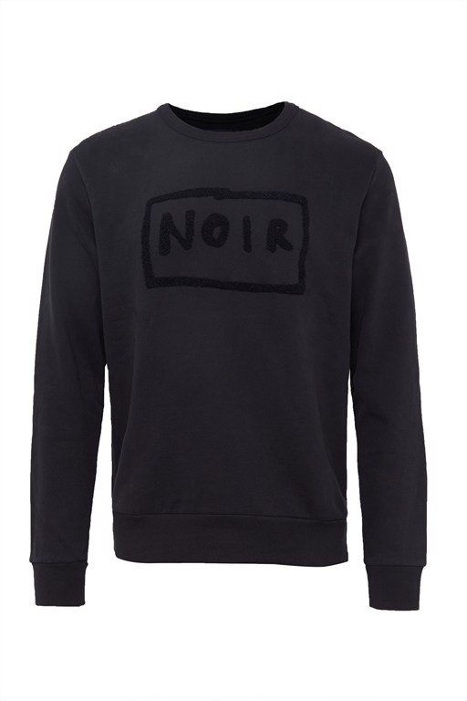noir crew neck sweatshirt