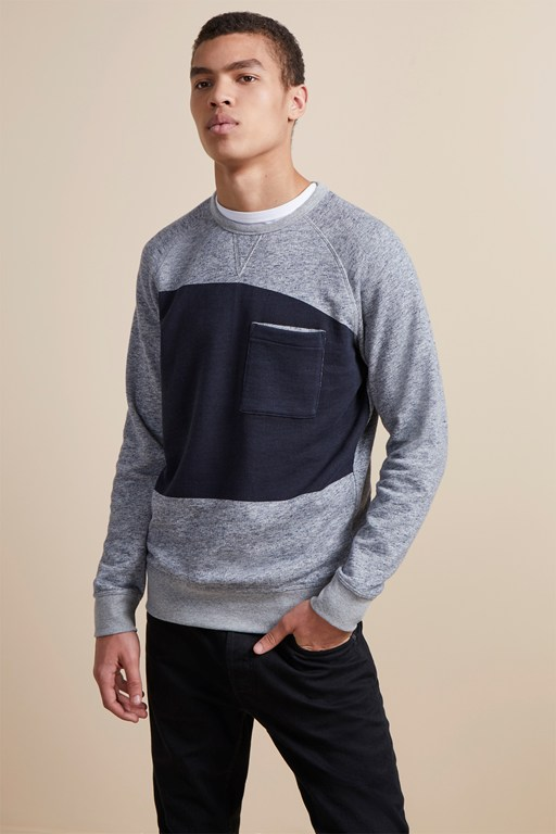 winning block panel sweatshirt