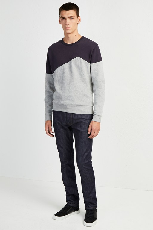 irregular colour block sweatshirt