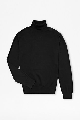 Auderly Cotton Roll Neck Jumper