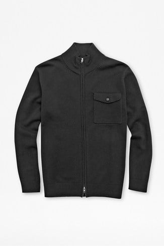 Formation Patch Lambswool Zipped Cardigan