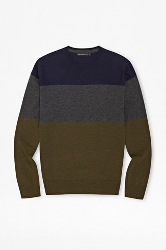 Core Base Striped Lambswool Jumper