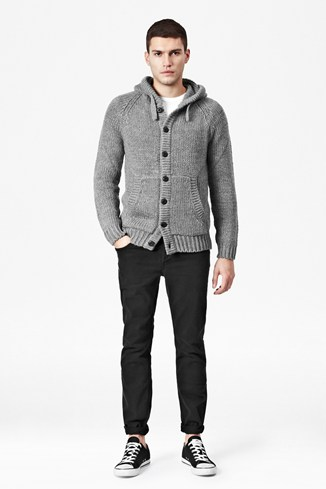 Delta Hooded Cardigan