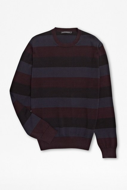 Overdye Stripes Crew Neck Jumper