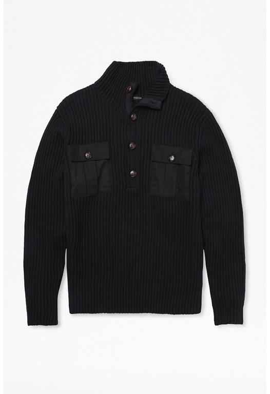 Military Twill Knit Jumper