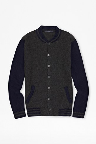 Italian Knitted Varsity Jacket