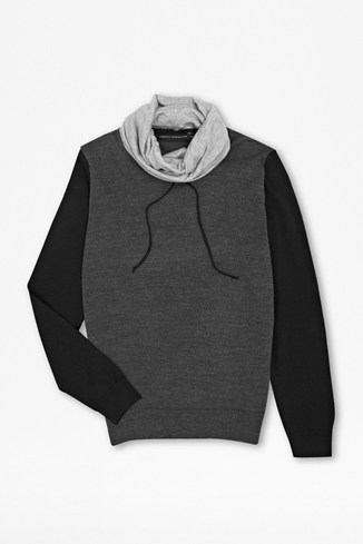 Italian Varsity Snood Sweater
