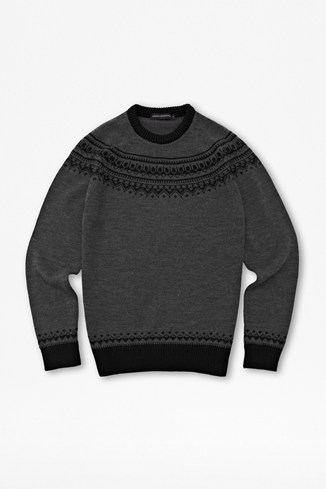 Slub Lambswool Fairisle Jumper