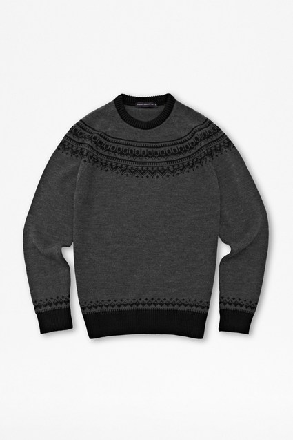 Slub Lambswool Fair Isle Jumper