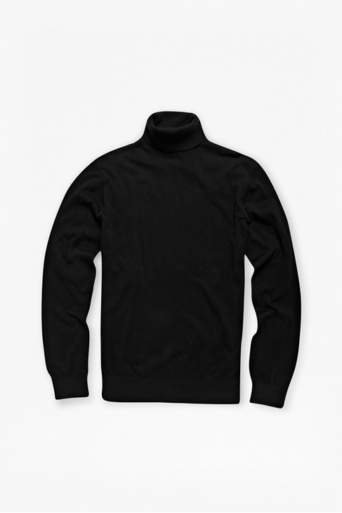 Portrait Plain Roll Neck Jumper