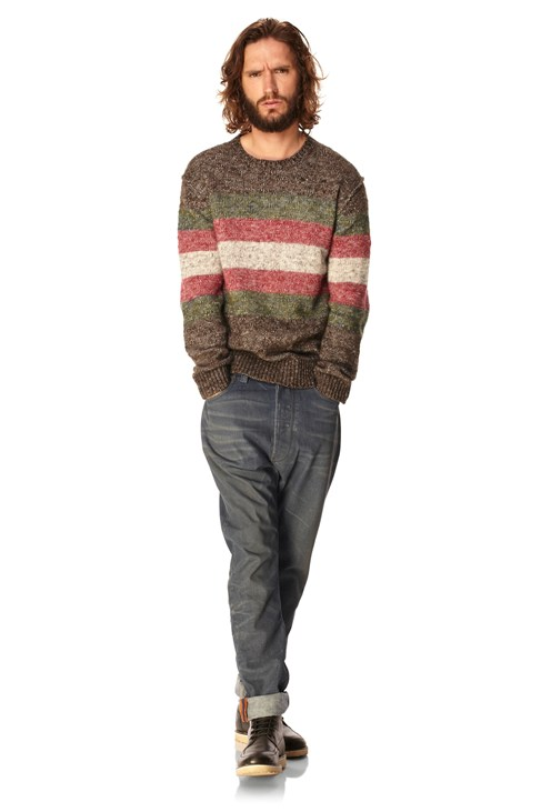 Grindhouse Tweed Stripe Jumper