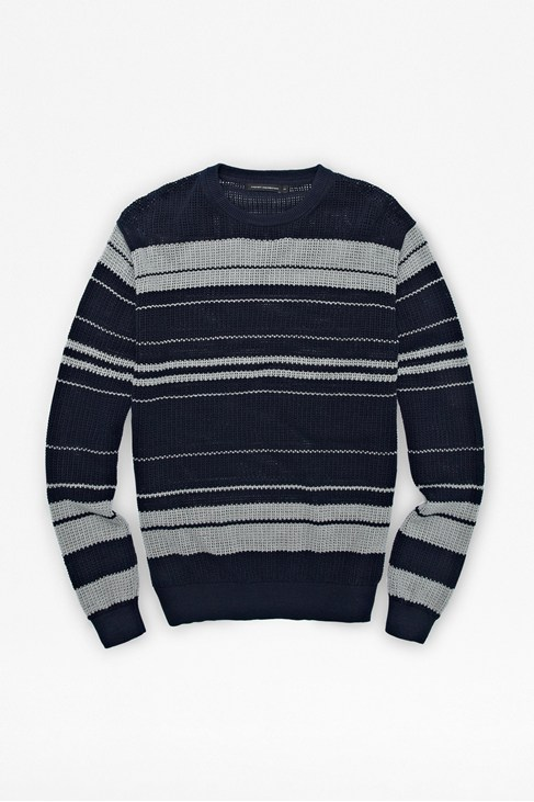 Pointelle Striped Jumper