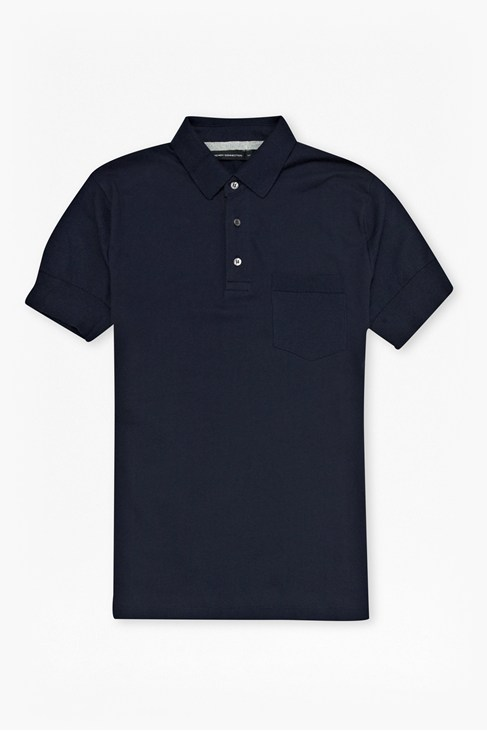 Mixed Jersey Pocket Polo Shirt