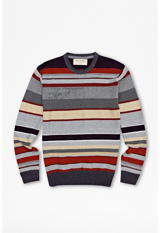 Patterned Stripe Jumper