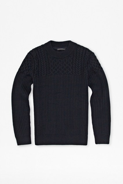 Huntsman Cable Knit Jumper
