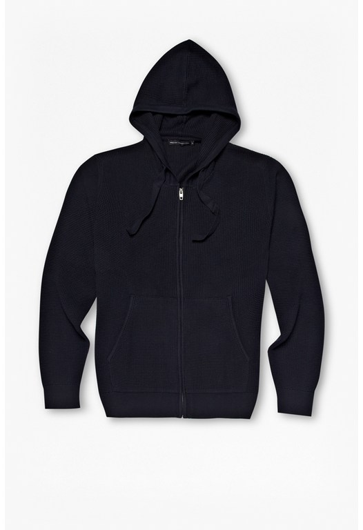 Tide Waffle Cotton Zip-Up Hoody