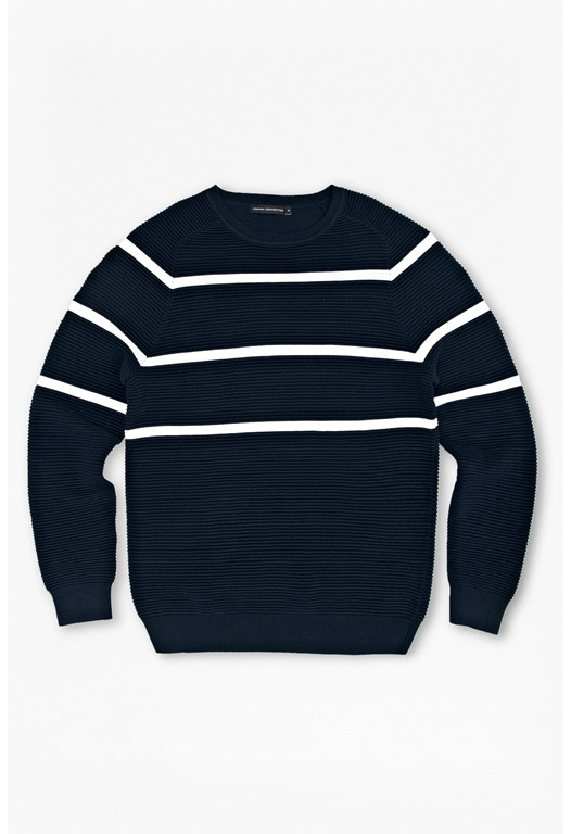 Engineered Stripe Ottoman Jumper