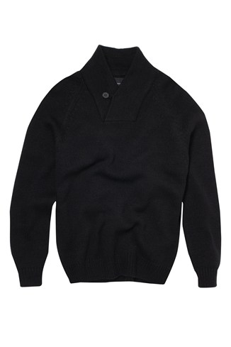 Bold Shawl Collar Jumper