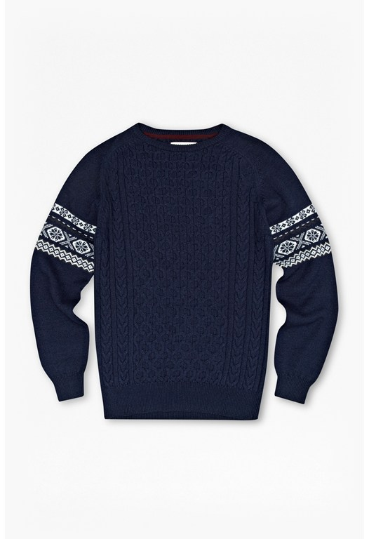 Indigo Patch Fair Isle Jumper