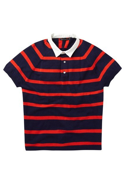 Montage Stripe Polo Shirt