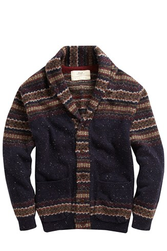 Engineered Fair Isle Cardigan