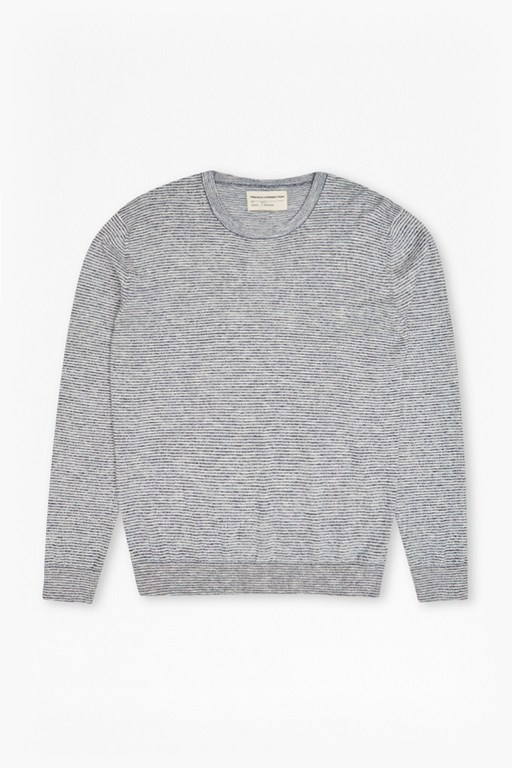 Slub Knits Ribbed Jumper