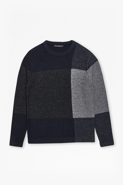Twill Check Knit Jumper