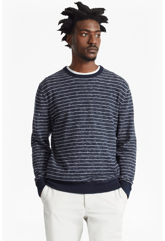 Plaited Stripe Knit Jumper