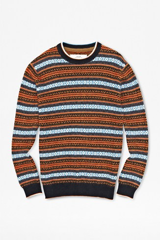 Warner Pattern Crew Neck Jumper