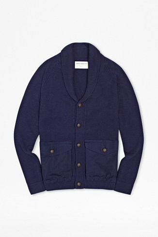 Port Mixed Cotton Pocket Cardigan