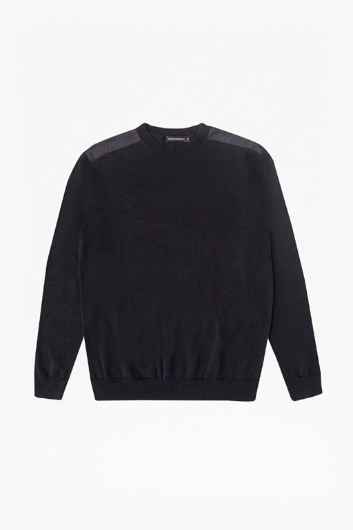 Complete the Look Nylon Trim Crew Neck Jumper