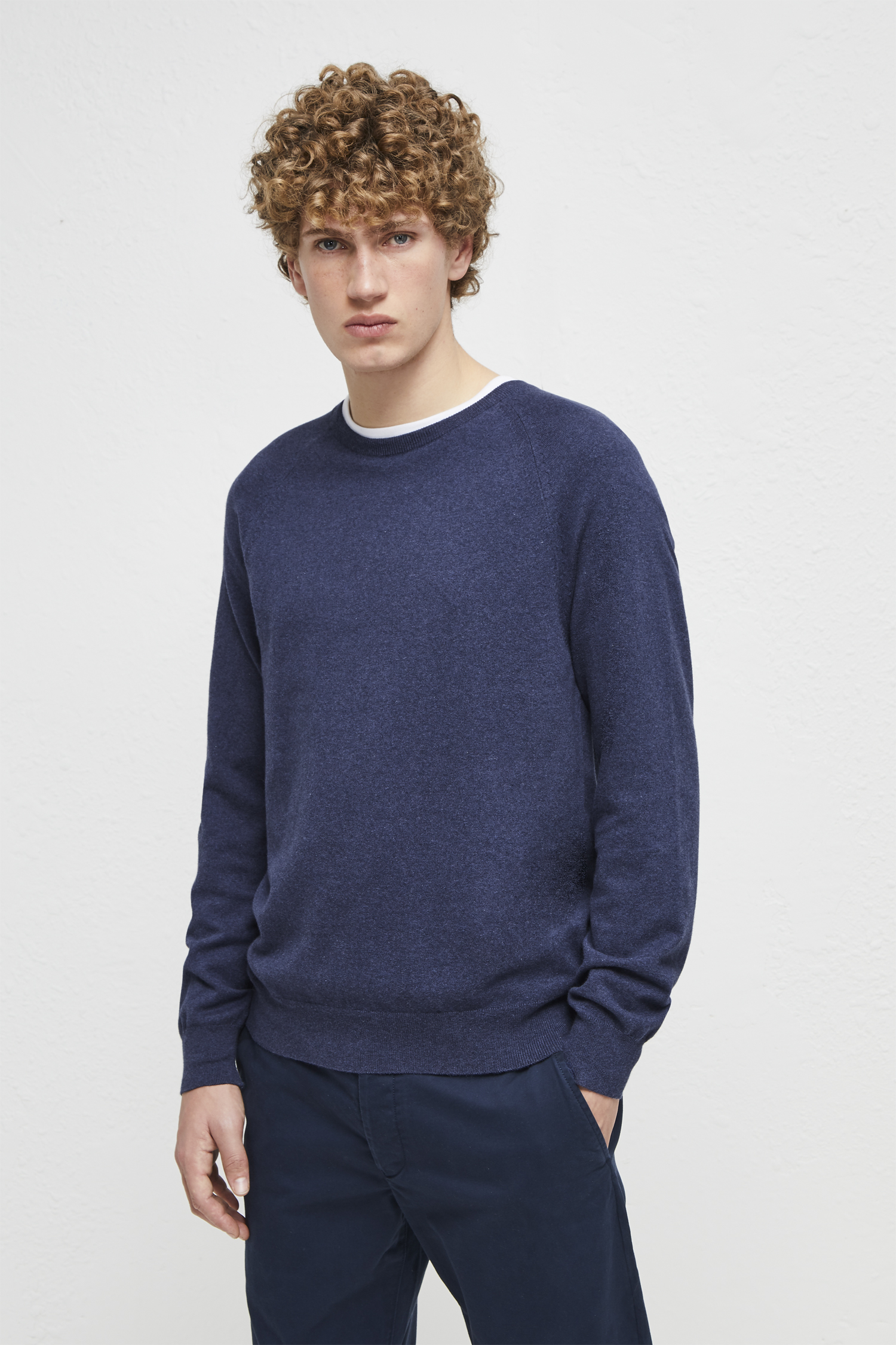 03d9ccc9838157 Stretch Cotton Crew Neck Jumper | Collections | French Connection