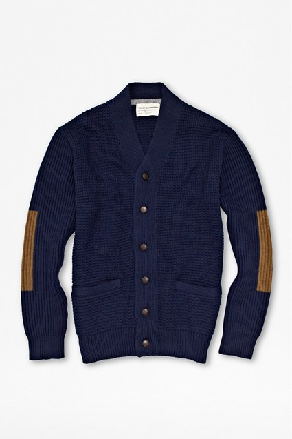 Fisherman Rib Colour Block Cardigan