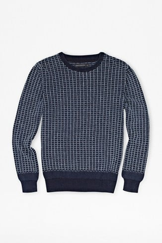 Textured Indigo Jumper