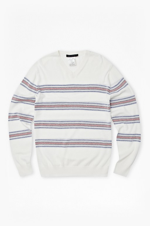 summer stripe auderly v-neck jumper