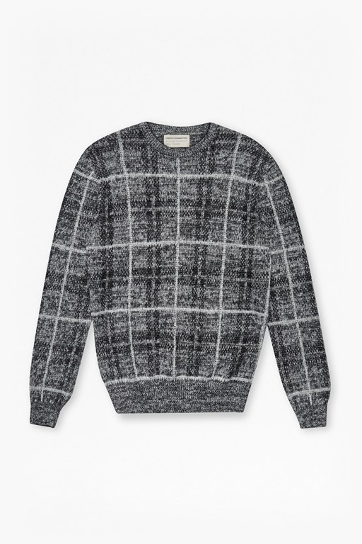 maddox checked knit