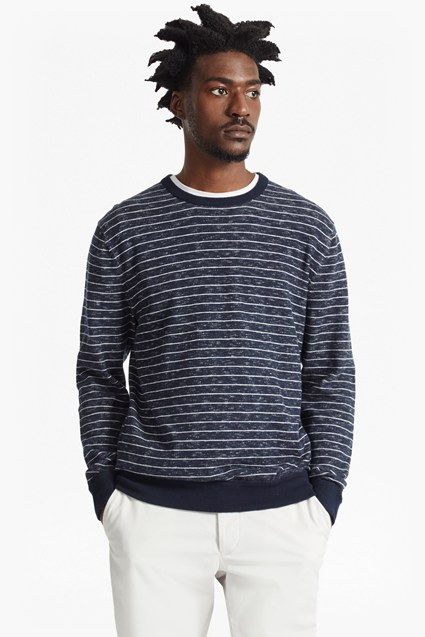 Plaited Stripe Knitted Jumper