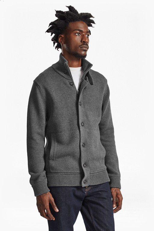 master flux knit cardigan