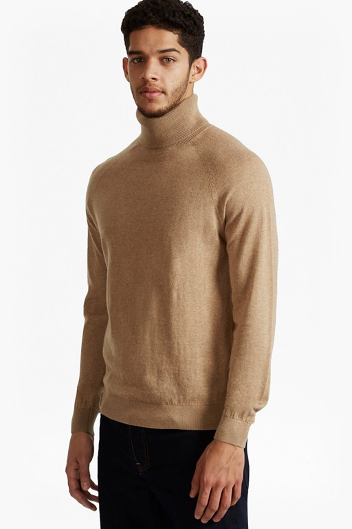 autumn portrait knit roll neck jumper