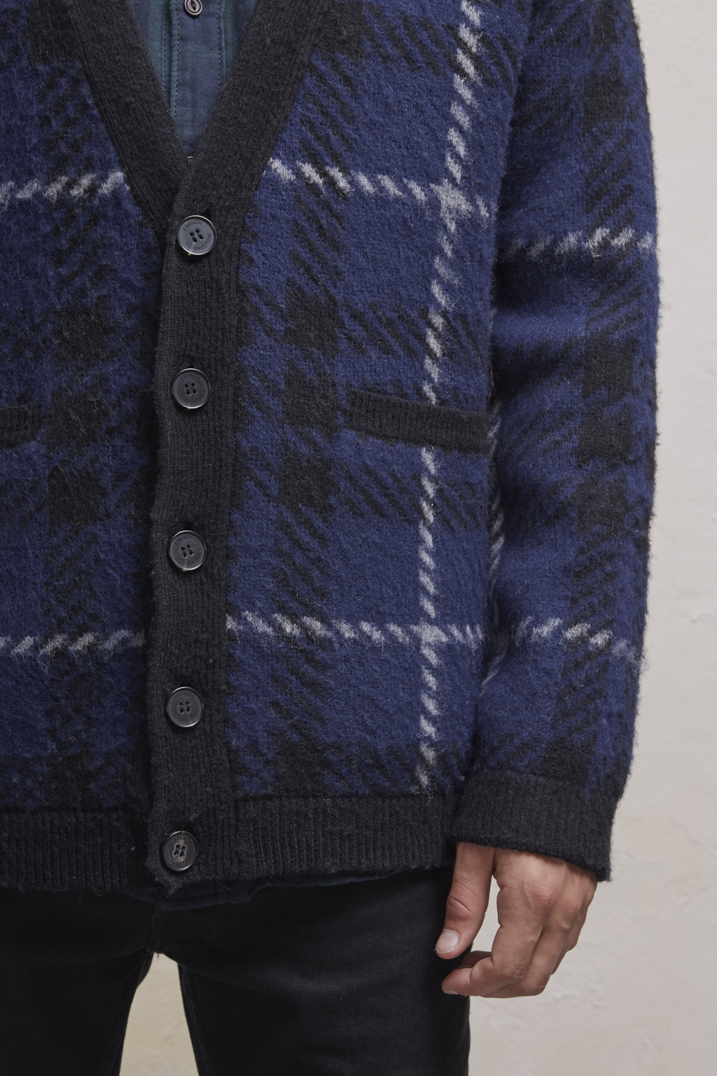 French Connection Mens Oversized Donegal Long Cardigan