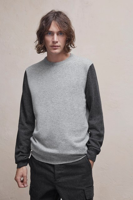 Lambswool Block Colour Knit Jumper
