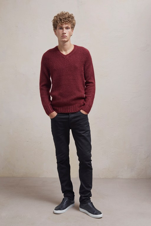 soft mohair long sleeved jumper