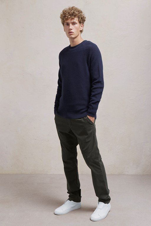 winter cotton rib knit jumper