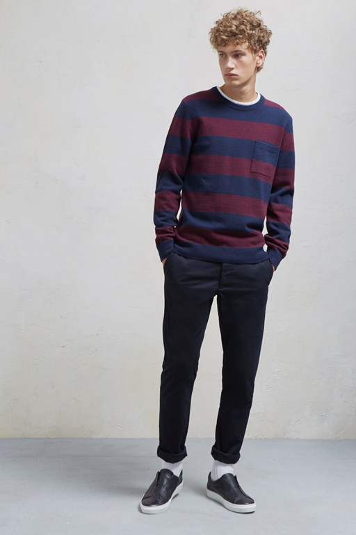 striped argyle overdye jumper