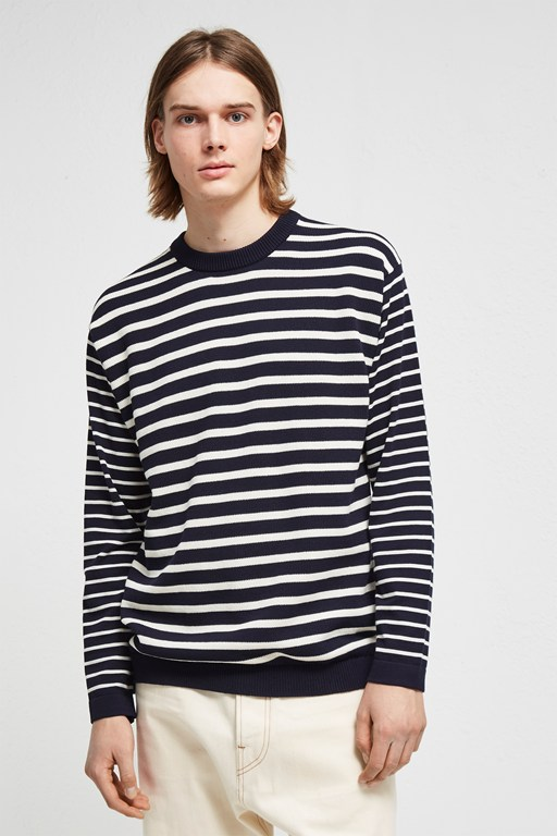 super fine breton stripe top