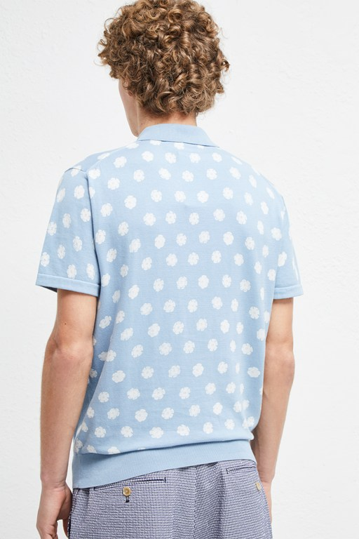 Complete the Look Superfine Hibiscus Dot Polo Shirt