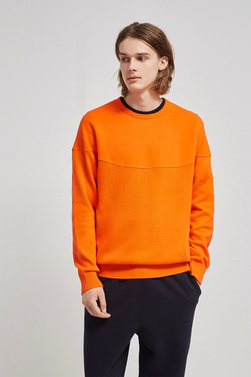 garment dyed cotton sweatshirt